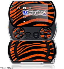 Zebra Orange - Decal Style Skins (fits Sony PSPgo)