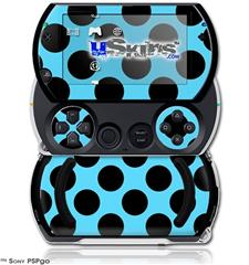 Kearas Polka Dots Black And Blue - Decal Style Skins (fits Sony PSPgo)