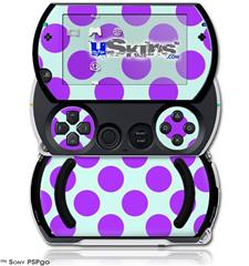 Kearas Polka Dots Purple And Blue - Decal Style Skins (fits Sony PSPgo)