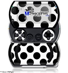 Kearas Polka Dots White And Black - Decal Style Skins (fits Sony PSPgo)