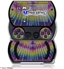 Tie Dye Pink and Yellow Stripes - Decal Style Skins (fits Sony PSPgo)