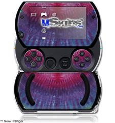 Tie Dye Pink and Purple Stripes - Decal Style Skins (fits Sony PSPgo)