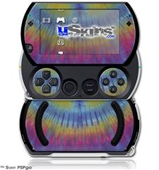 Tie Dye Blue and Yellow Stripes - Decal Style Skins (fits Sony PSPgo)