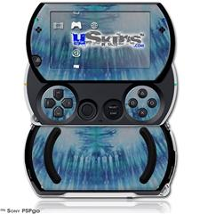 Tie Dye All Blue Stripes - Decal Style Skins (fits Sony PSPgo)