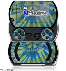 Tie Dye Peace Sign Swirl - Decal Style Skins (fits Sony PSPgo)