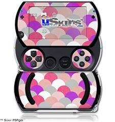Brushed Circles Pink - Decal Style Skins (fits Sony PSPgo)