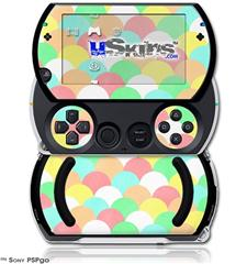 Brushed Cirlces Multi Light - Decal Style Skins (fits Sony PSPgo)