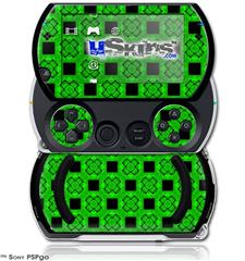 Criss Cross Green - Decal Style Skins (fits Sony PSPgo)