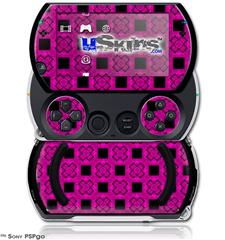 Criss Cross Pink - Decal Style Skins (fits Sony PSPgo)