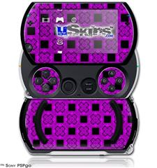 Criss Cross Purple - Decal Style Skins (fits Sony PSPgo)