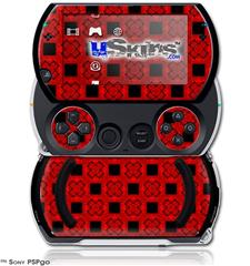 Criss Cross Red - Decal Style Skins (fits Sony PSPgo)