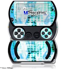 Electro Graffiti Blue - Decal Style Skins (fits Sony PSPgo)