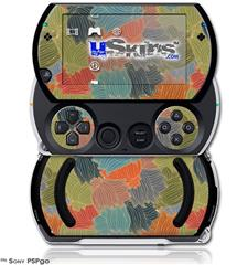 Flowers Pattern 03 - Decal Style Skins (fits Sony PSPgo)
