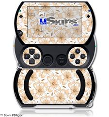 Flowers Pattern 15 - Decal Style Skins (fits Sony PSPgo)