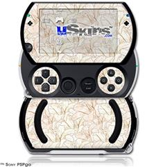 Flowers Pattern 17 - Decal Style Skins (fits Sony PSPgo)