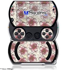 Flowers Pattern 23 - Decal Style Skins (fits Sony PSPgo)