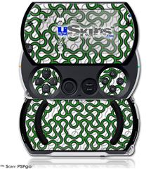 Locknodes 01 Green - Decal Style Skins (fits Sony PSPgo)