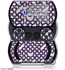 Locknodes 01 Purple - Decal Style Skins (fits Sony PSPgo)