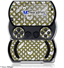 Locknodes 01 Yellow - Decal Style Skins (fits Sony PSPgo)