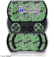 Locknodes 02 Green - Decal Style Skins (fits Sony PSPgo)