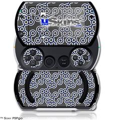 Locknodes 02 Navy Blue - Decal Style Skins (fits Sony PSPgo)
