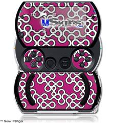 Locknodes 03 Hot Pink (Fuchsia) - Decal Style Skins (fits Sony PSPgo)