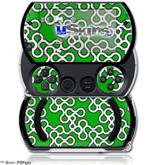 Locknodes 03 Green - Decal Style Skins (fits Sony PSPgo)