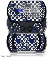 Locknodes 03 Navy Blue - Decal Style Skins (fits Sony PSPgo)