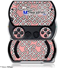 Locknodes 03 Pink - Decal Style Skins (fits Sony PSPgo)