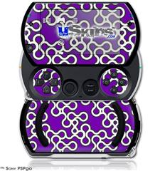 Locknodes 03 Purple - Decal Style Skins (fits Sony PSPgo)