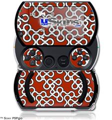 Locknodes 03 Red Dark - Decal Style Skins (fits Sony PSPgo)