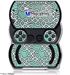 Locknodes 03 Seafoam Green - Decal Style Skins (fits Sony PSPgo)
