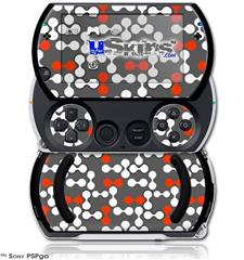 Locknodes 04 Red - Decal Style Skins (fits Sony PSPgo)