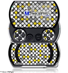 Locknodes 05 Yellow - Decal Style Skins (fits Sony PSPgo)