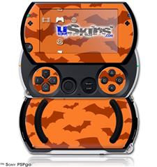Deathrock Bats Orange - Decal Style Skins (fits Sony PSPgo)