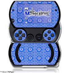Gothic Punk Pattern Blue - Decal Style Skins (fits Sony PSPgo)