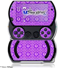 Gothic Punk Pattern Purple - Decal Style Skins (fits Sony PSPgo)