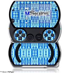 Skull And Crossbones Pattern Blue - Decal Style Skins (fits Sony PSPgo)