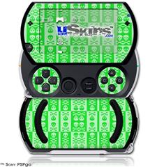 Skull And Crossbones Pattern Green - Decal Style Skins (fits Sony PSPgo)