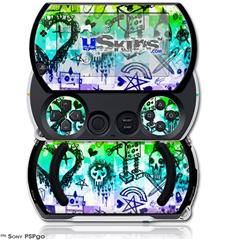 Scene Kid Sketches Rainbow - Decal Style Skins (fits Sony PSPgo)