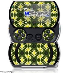Abstract Floral Yellow - Decal Style Skins (fits Sony PSPgo)