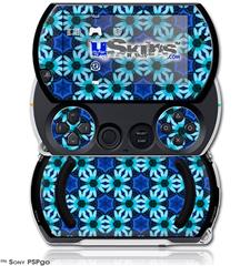 Daisies Blue - Decal Style Skins (fits Sony PSPgo)