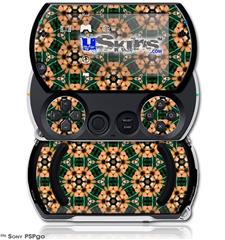 Floral Pattern Orange - Decal Style Skins (fits Sony PSPgo)