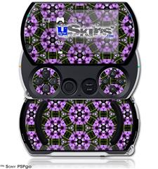 Floral Pattern Purple - Decal Style Skins (fits Sony PSPgo)
