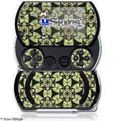 Leave Pattern 1 Green - Decal Style Skins (fits Sony PSPgo)