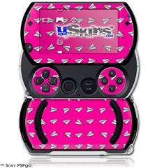 Paper Planes Hot Pink - Decal Style Skins (fits Sony PSPgo)