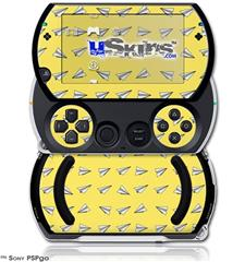 Paper Planes Yellow - Decal Style Skins (fits Sony PSPgo)
