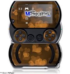 Bokeh Hearts Orange - Decal Style Skins (fits Sony PSPgo)