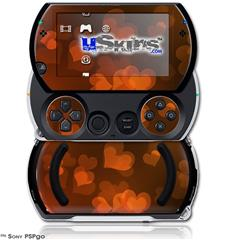 Bokeh Hearts Fire - Decal Style Skins (fits Sony PSPgo)