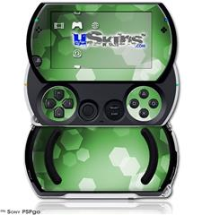 Bokeh Hex Green - Decal Style Skins (fits Sony PSPgo)